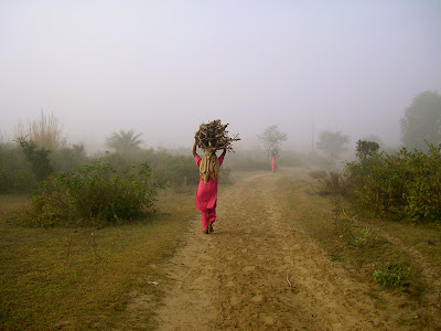 A woman starts her day at the farm