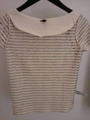 J.Crew Sequin Stripe Tee in Vintage Champagne