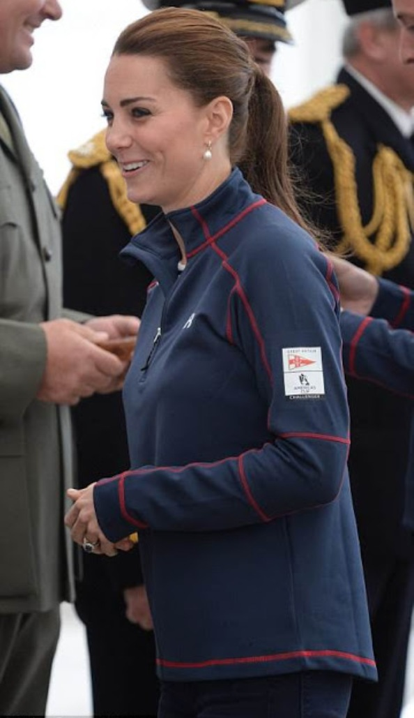 The Duchess Of Cambridge And Duke Of Cambridge Stepped Out In Matching Fleeces Emblazoned With Their Names
