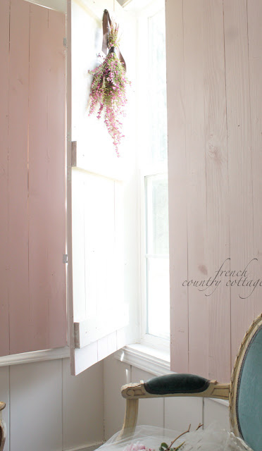 Diy Vintage Inspired Wood Shutters French Country Cottage