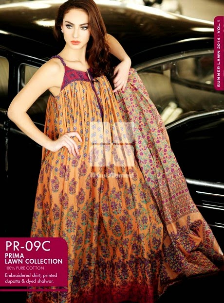 Gul Ahmed Prima Lawn Collection 2014
