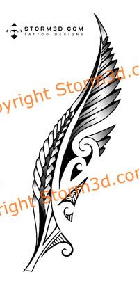 maori fern tattoo with koru swirls. Black Bedroom Furniture Sets. Home Design Ideas