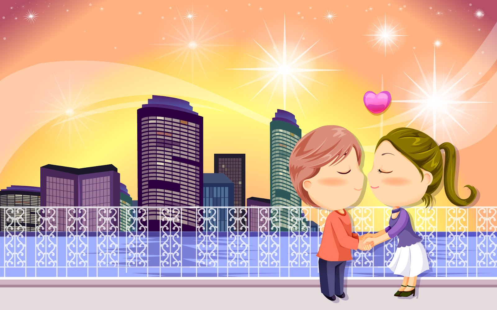 cartoon Wallpapers: romantic cartoons hd wallpaper