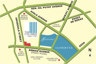 The Columns Makati Location Map