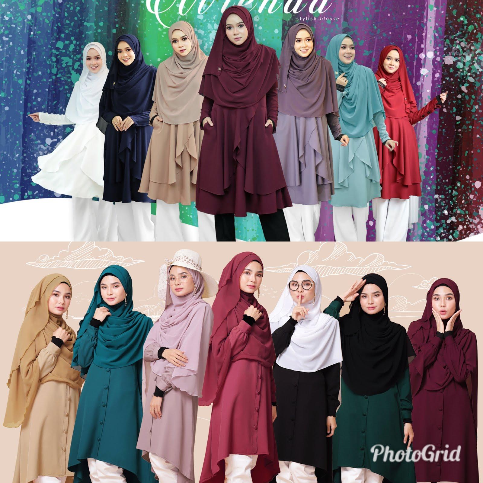 Cantik sangat pelbagai koleksi blouse muslimah semuanya trendy