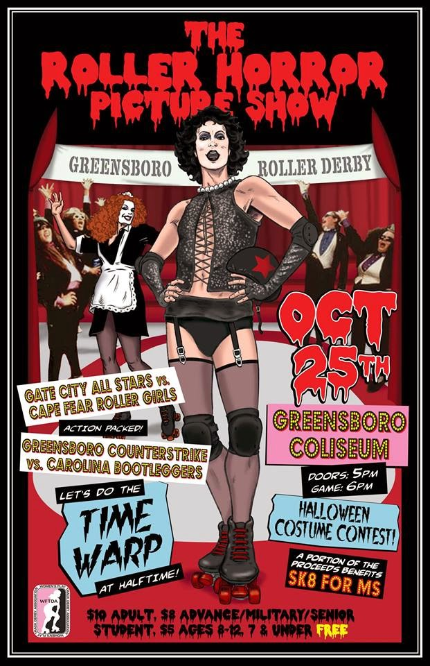 a rocky horror picture show themed bout check out the awesome poster made by edward fields come dressed in your finest halloweenrocky horror costume