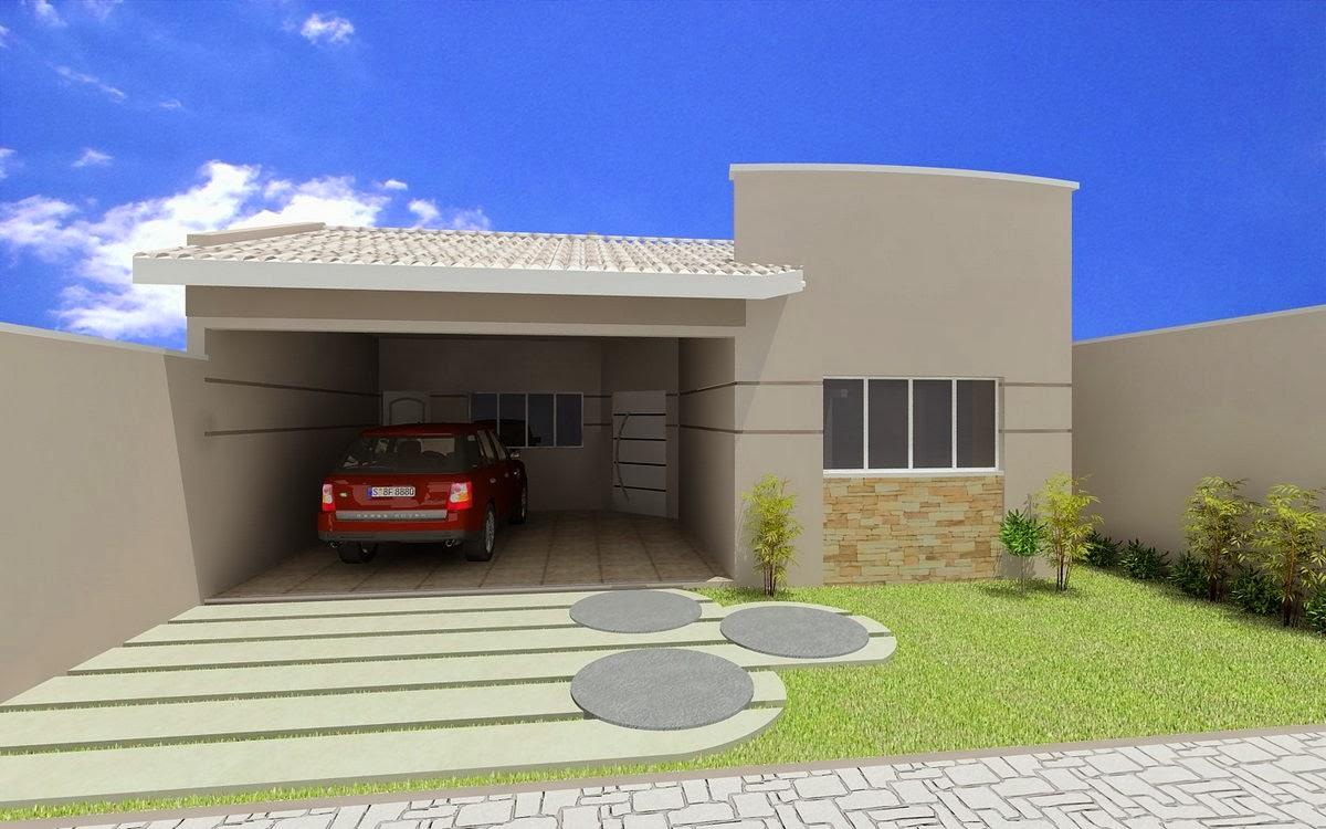Fachadas de casas simples bonitas e pequenas decorsalteado for Pinturas bonitas para casas