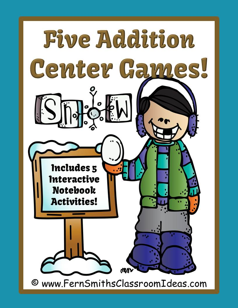 https://www.teacherspayteachers.com/Product/Winter-Addition-Centers-and-Interactive-Notebook-Activities-1692920