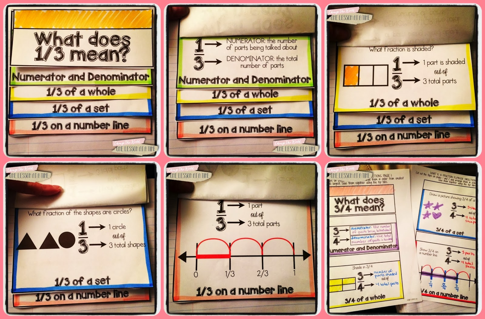 Fraction Freebies for Interactive Notebooks ~ amanda beth online