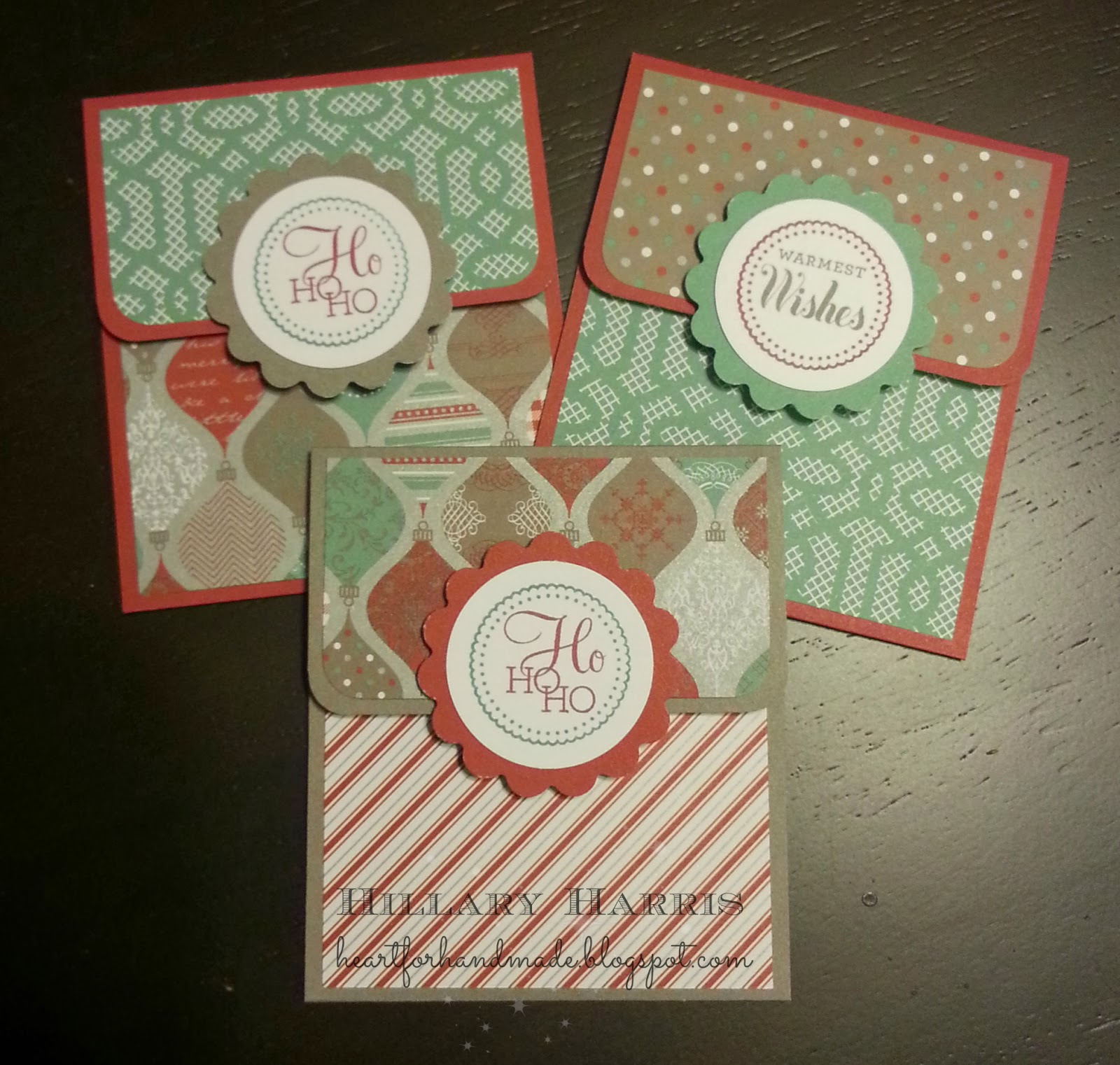 Heart for Handmade: Holiday Gift Card Holders