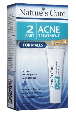 Nature's Cure Two Part Acne Treatment System for Males