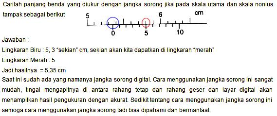 Cara Menghitung Jangka Sorong dengan Mudah