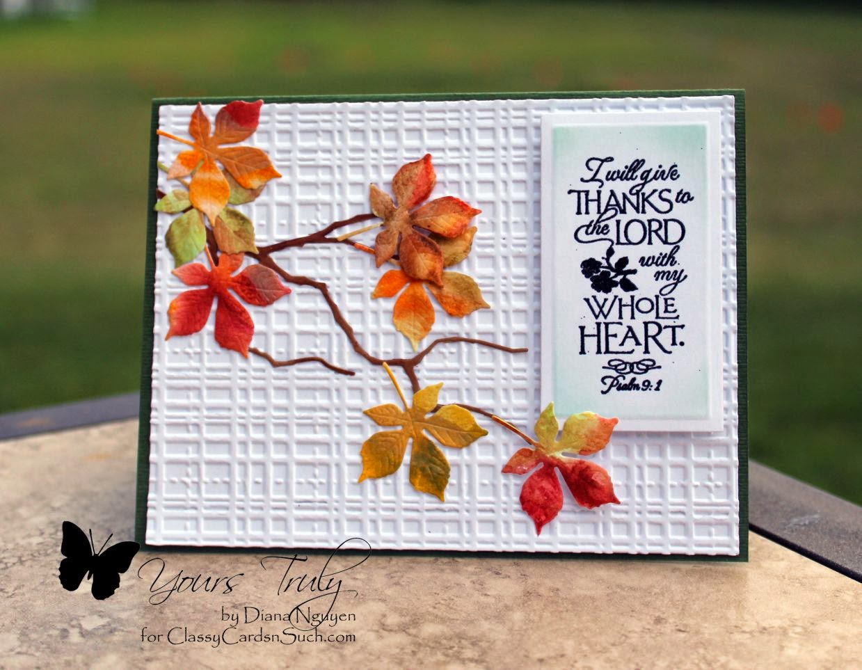Our Daily Bread Designs, Impression Obsession Small Leaf Set, Diana Nguyen