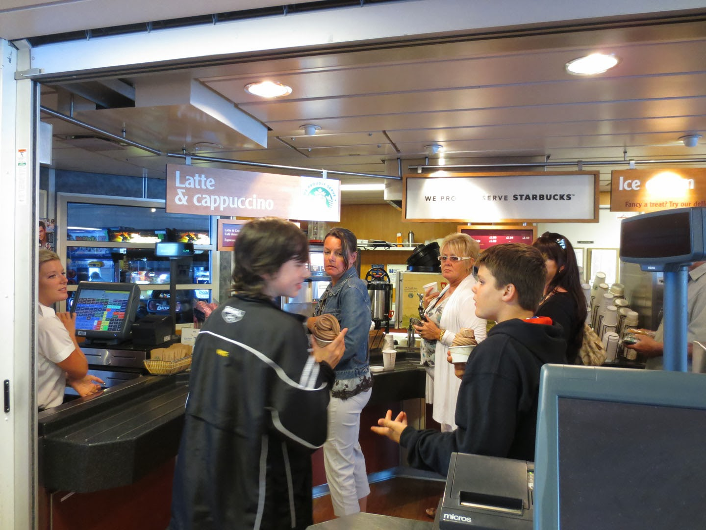 Coffee Shop, BC Ferries