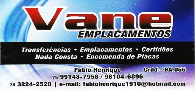 VANE EMPLACAMENTOS