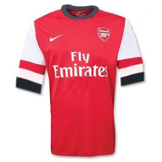 Kostum Arsenal Terbaru 2013