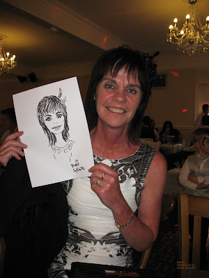 Ingrid Sylvestre live caricatures at weddings parties proms corporate events North Yorkshire Teesside County Durham Newcastle Sunderland Darlington Northumberland Wedding Entertainment North East UK