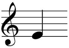 kunci G not balok, belajar gitar