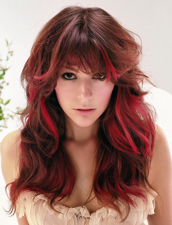Beautiful Dark Red Color Hairstyles Fashion