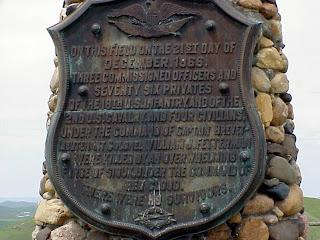 fetterman battlefield plaque