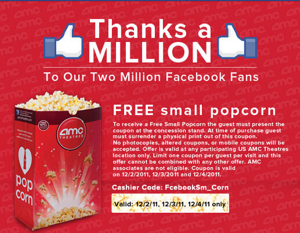Movie theater discount coupons