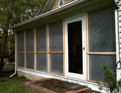 Low cost winterizing improved converting a porch to passive solar