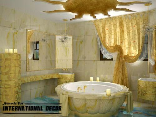 False ceiling designs for bathroom with lights