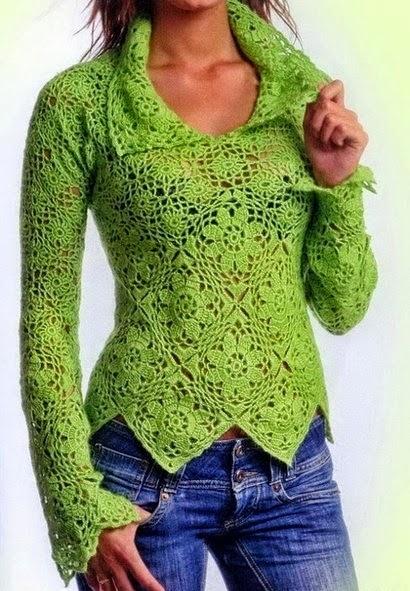 Free Crochet Patterns And Video Tutorials Free Crochet Pullover