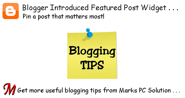 Default Featured Post Widget for Blogger