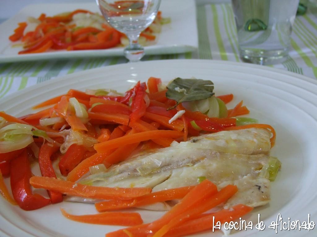 La cocina de aficionado dorada en papillote de verduras y - La cocina del 9 ...