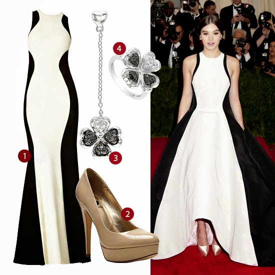 Hailee Steinfeld look for less Prabal Gurung Unique Vintage prom dress Met Gala 2014