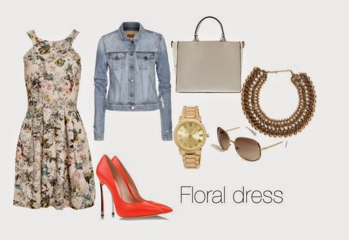 look vestido flores