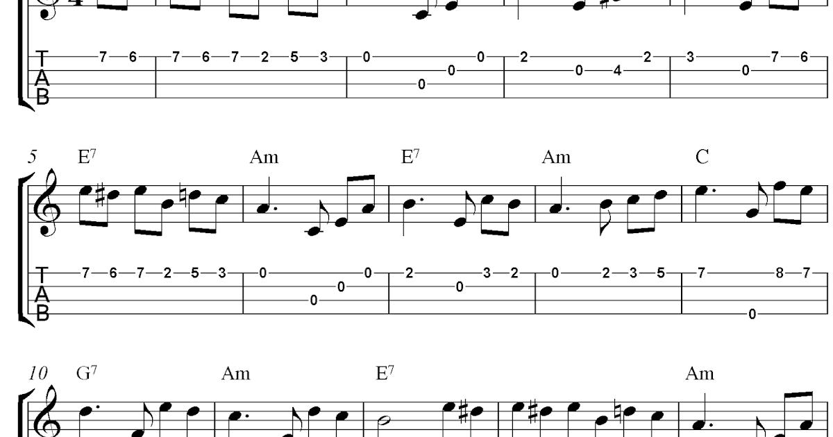 Fur Elise, free ukulele tabs sheet music