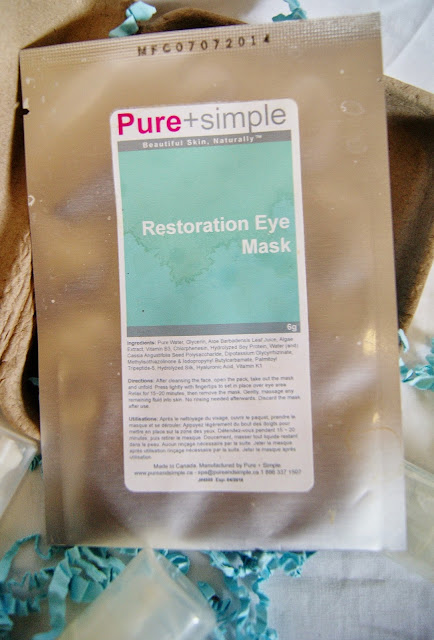 Pure + Simple Restoration Eye Mask and Essentials Kit: Cleansing Milk, Hydration Serum, Skin Drink Lotion, Calming Cucumber Mask, beauty, skincare, review, skin, clean, toronto, ontario, canada, natural, organic