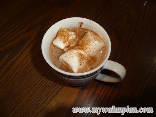 Hot Chocolate with marshmallows and cinnamon