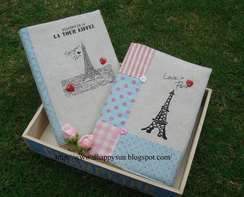 Handmade Fabric Book Covers : Handmade fabric book cover