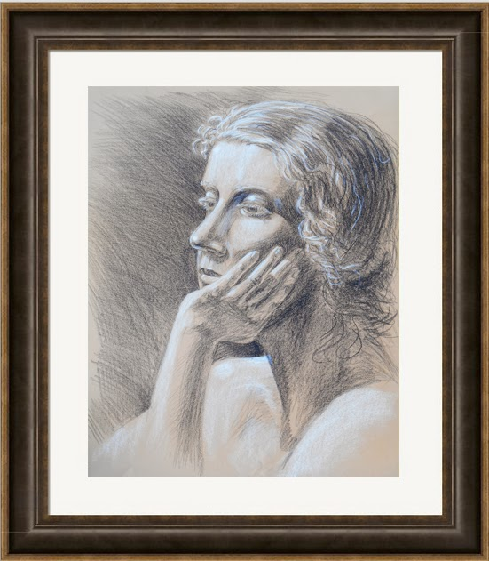 charcoal drawing head