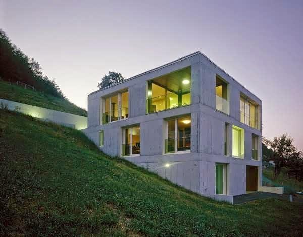 SWITZERLAND COOL THREE STOREY HOUSE DESIGN IS BUILT INTO