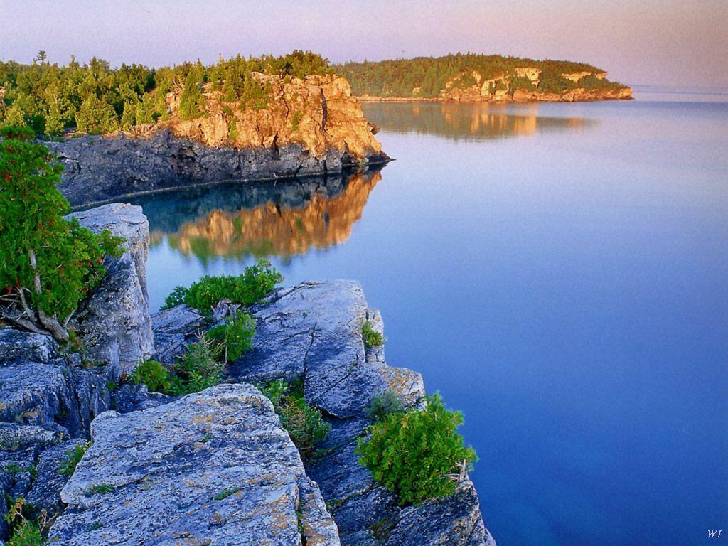 Paisaje del Lago Huron en Canadá