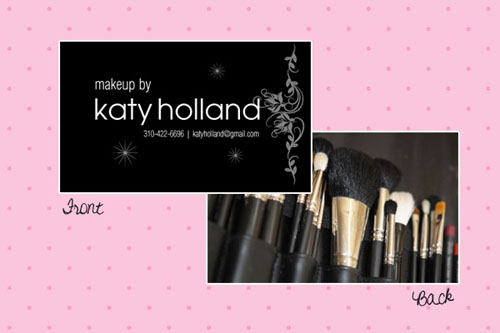 katy holland makeup business cards examples
