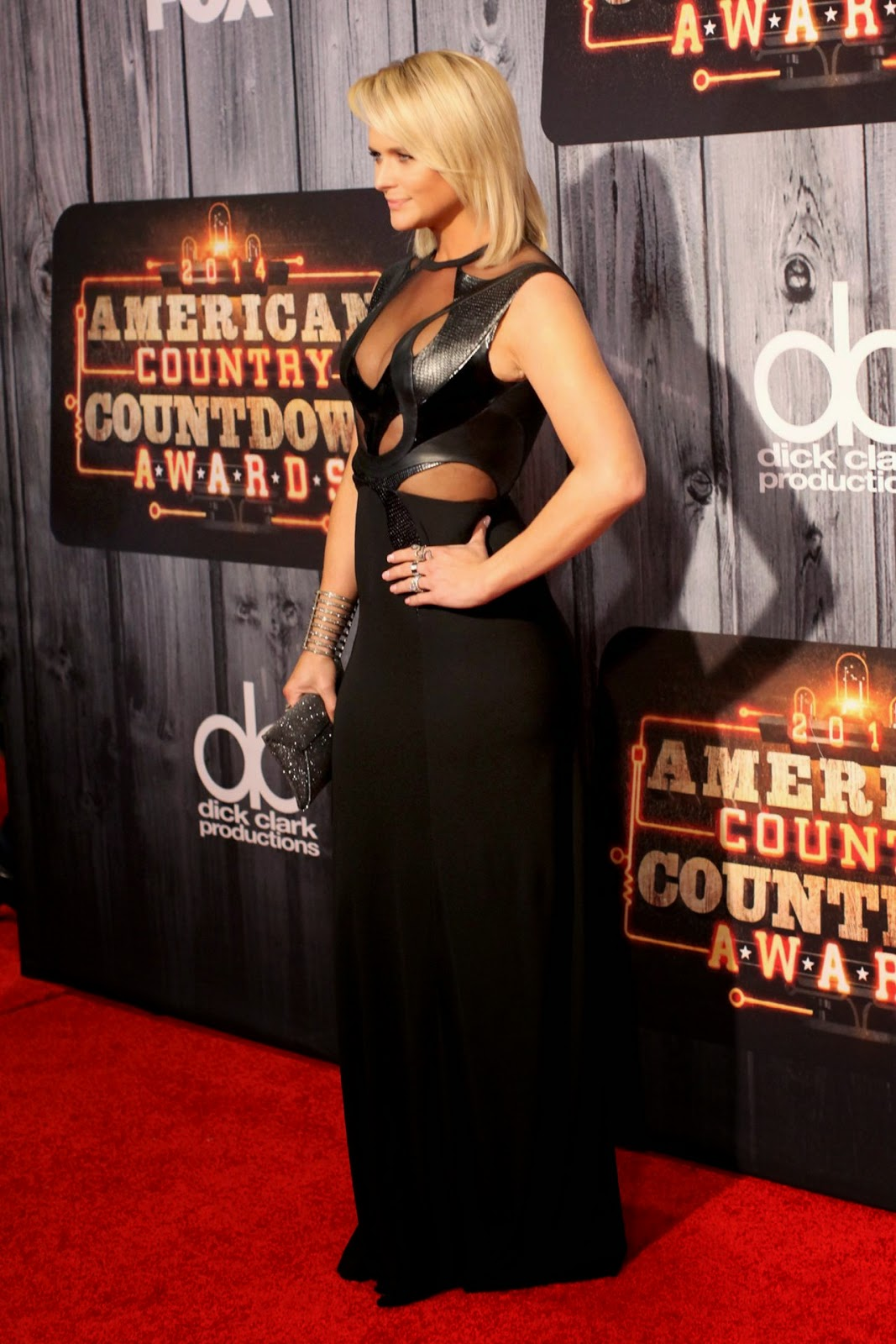 Miranda Lambert bares cleavage at the 2014 American Country Countdown Awards in Nashville