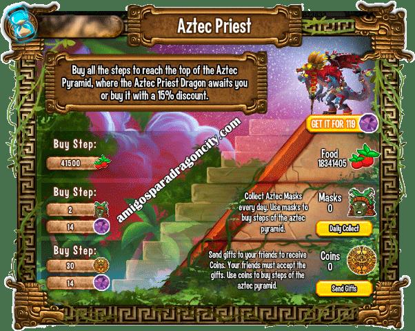 imagen de las tareas y objetos magicos del tercer juego de la isla azteca de dragon city