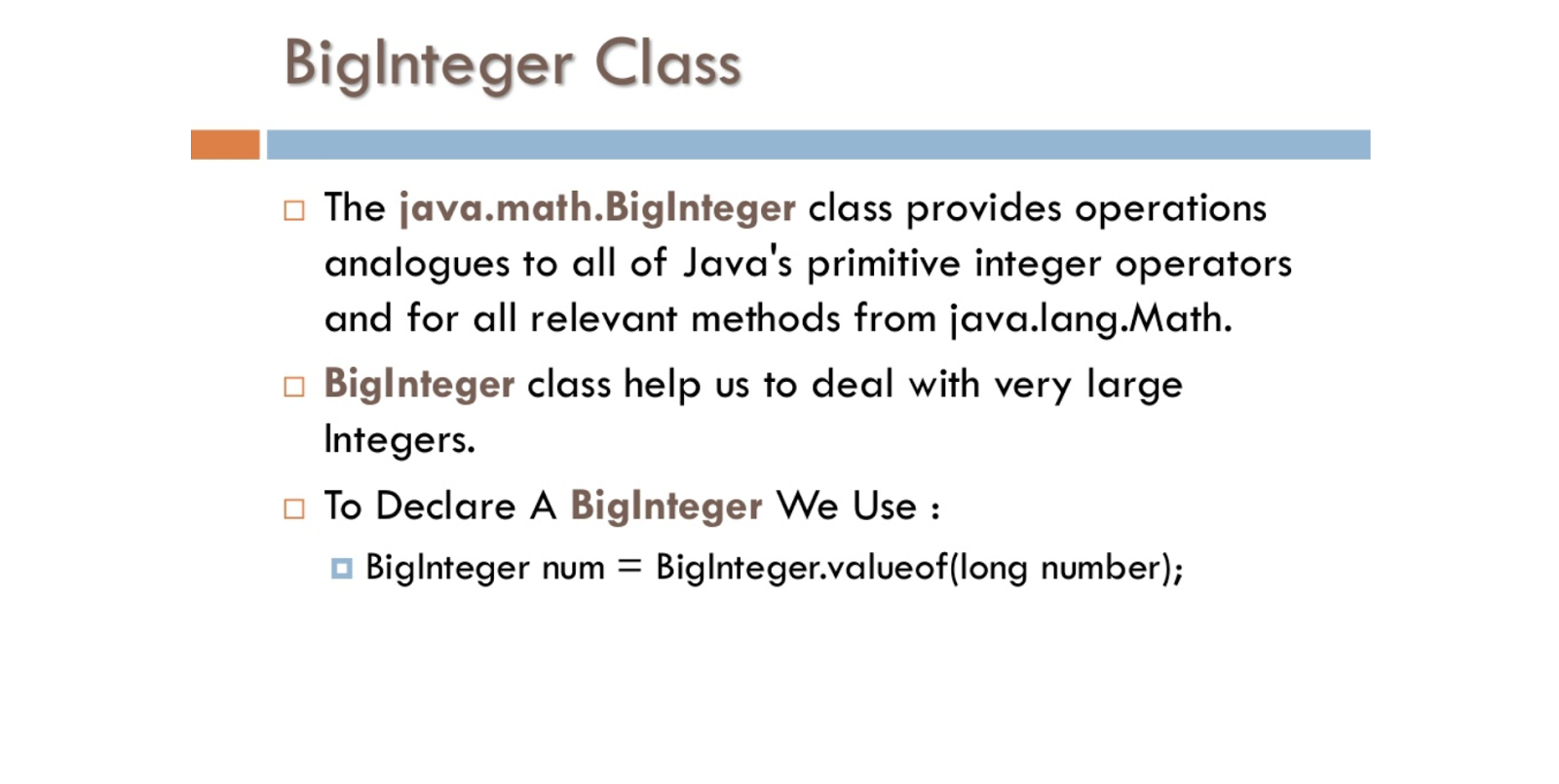 How to use biginteger class in java large factorial example java67 how to use biginteger in java baditri Image collections