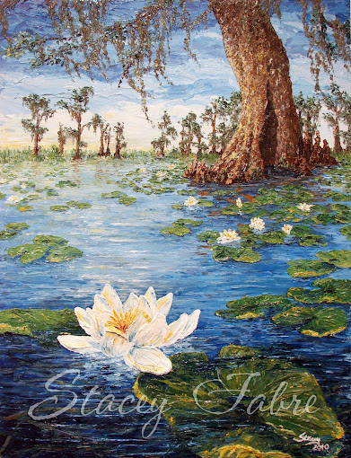 Swamp with Water Lilies
