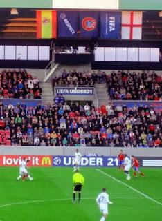 UEFA U21 Championship 2011: England v Ukraine.
