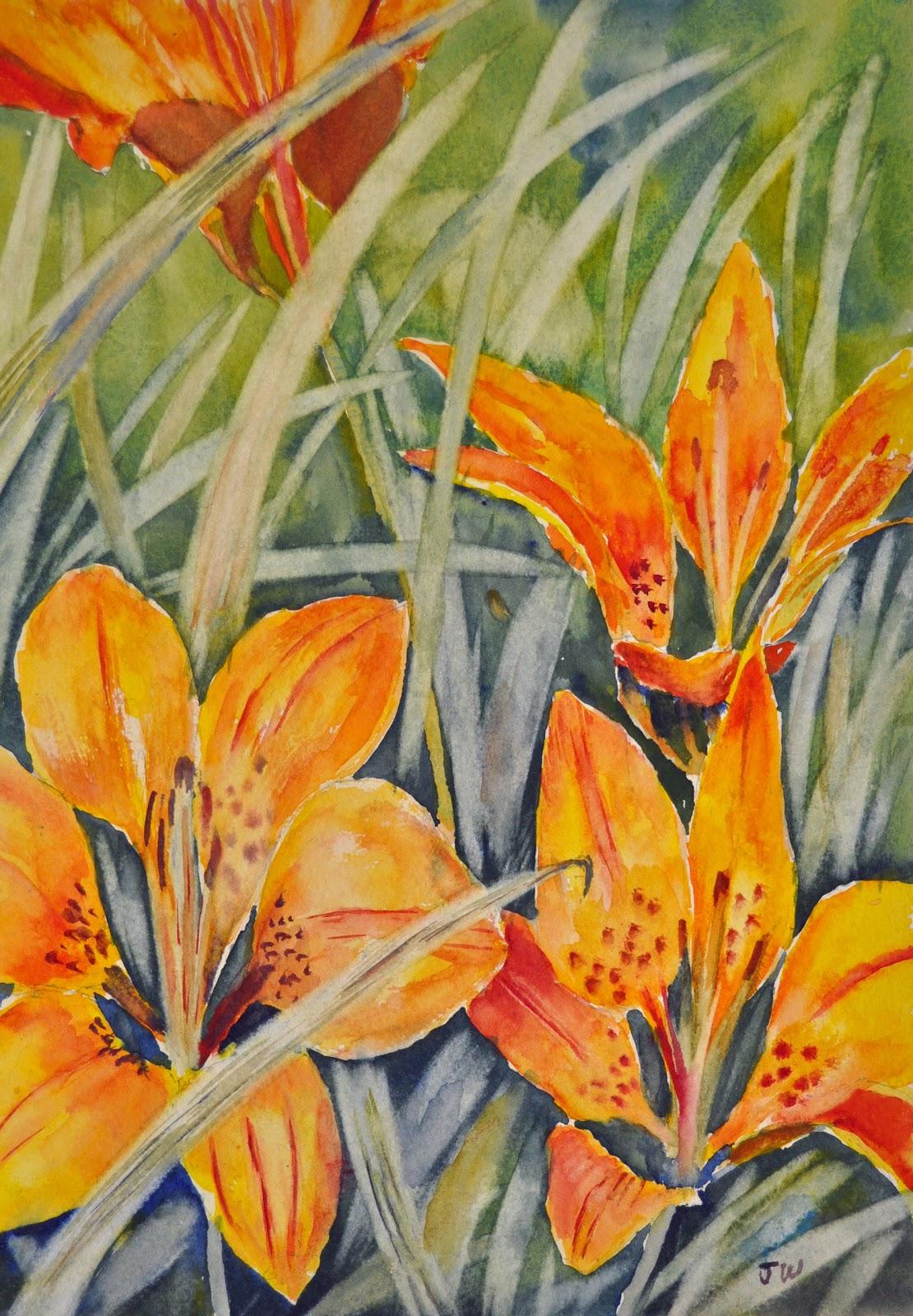 John Wright Art Prairie Lily