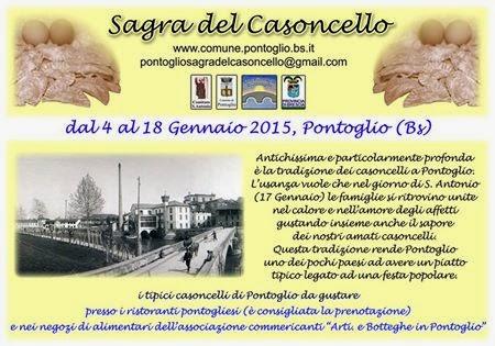Sagra del Casoncello di Pontoglio dal 4 al 18 Gennaio  2015