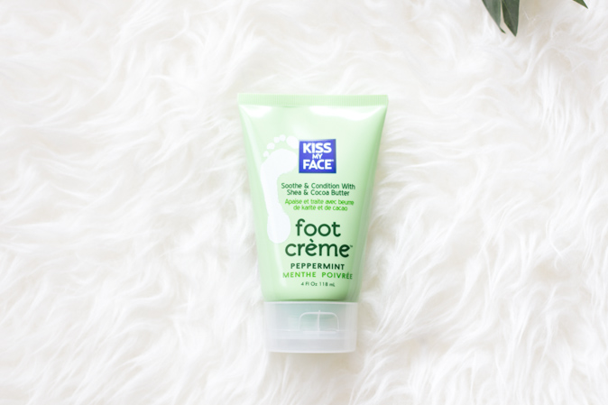 kiss my face peppermint foot creme cream review