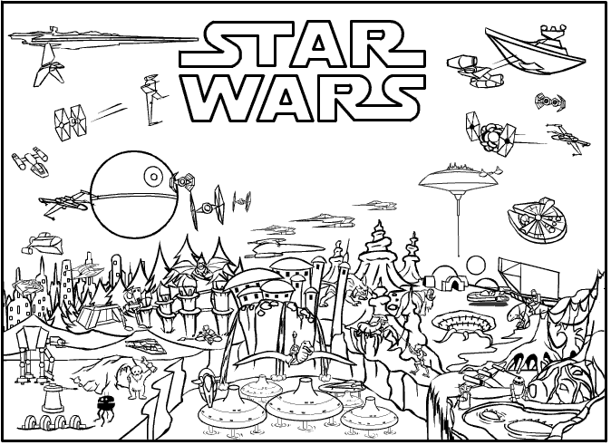 Free Colouring Pages Star Wars : Coloring pages star wars free printable