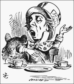 Mad Hatter vintage drawing